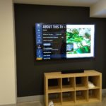 TV wall mounted installation