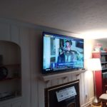 TV Wall mounting above fireplace installation services